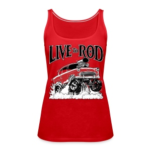 LIVE TO ROD 1955 Gasser Women's Tank - Women's Premium Tank Top