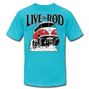 LIVE TO ROD 1964 Microbus Men's-T - Men's T-Shirt by American Apparel