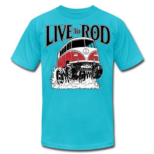 LIVE TO ROD 1964 Microbus Men's-T - Men's Fine Jersey T-Shirt