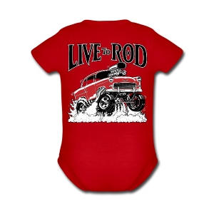 LIVE TO ROD 1955 Gasser One-Piece - Short Sleeve Baby Bodysuit