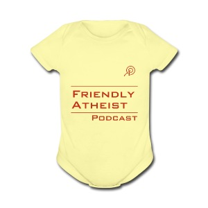 Friendly Atheist Podcast Baby   - Short Sleeve Baby Bodysuit