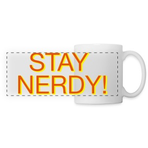 Stay Nerdy Panoramic Mug - Panoramic Mug