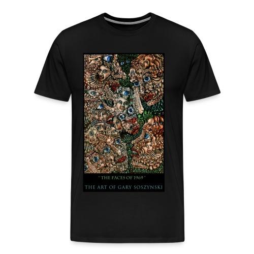 the faces of 1969   t-shirt - Men's Premium T-Shirt