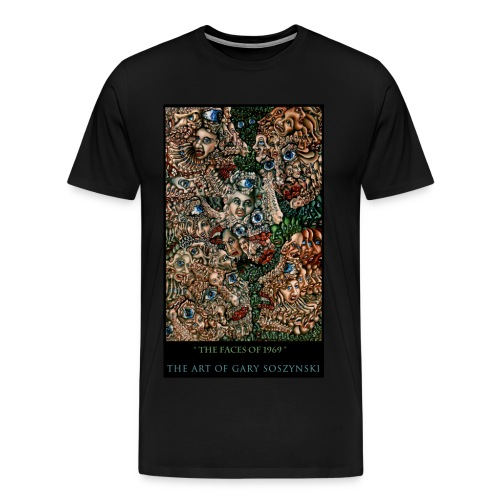 the faces of 1969   t-shirt - Men's Premium T-Shirt