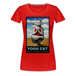 YOGA CAT women  t-shirt - Women's Premium T-Shirt