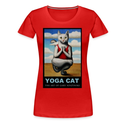 YOGA CAT women  t-shirt - Women's Premium T-Shirt