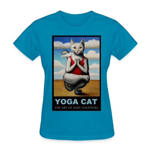 YOGA CAT  womens t-shirt - Women's T-Shirt