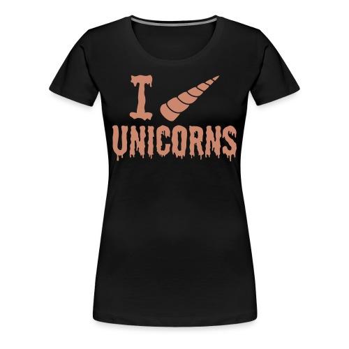Pink Glitter Horny Ladies Tee - Women's Premium T-Shirt