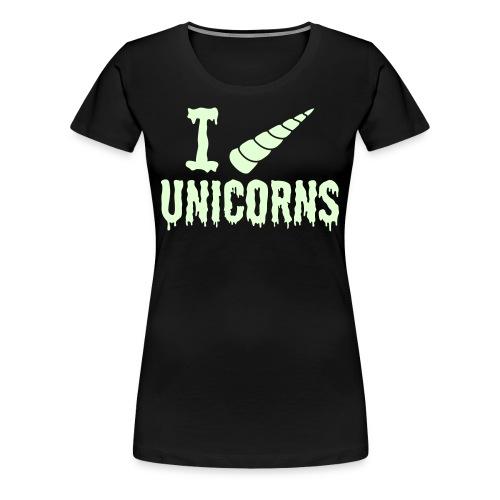 Glow-In-The-Dark Horny Ladies Tee - Women's Premium T-Shirt
