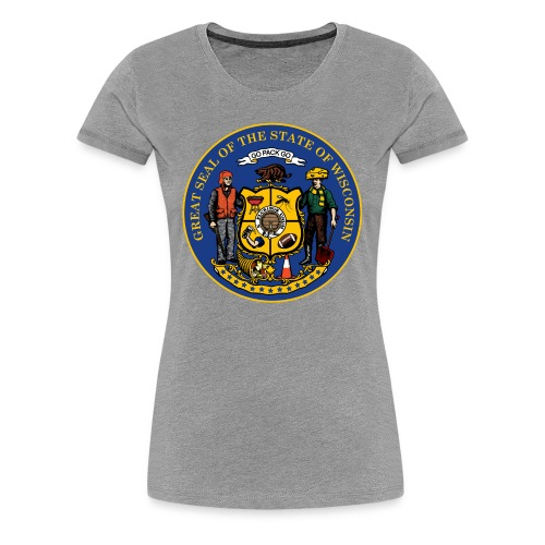 NEW WISCONSIN STATE SEAL - Women's Premium T-Shirt