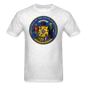 NEW WISCONSIN STATE SEAL - Men's T-Shirt