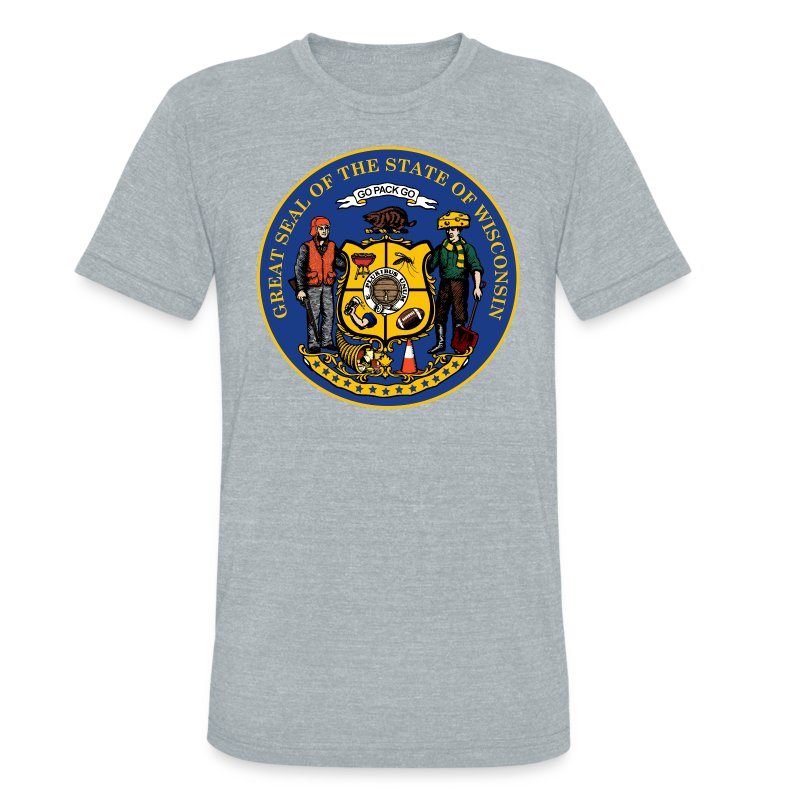 NEW WISCONSIN STATE SEAL - Unisex Tri-Blend T-Shirt