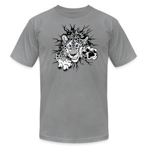 STUCK Snow Leopard (2-sided)  - Men's Fine Jersey T-Shirt
