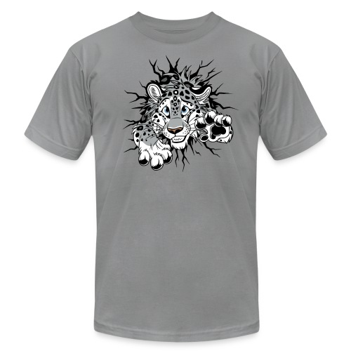 STUCK Snow Leopard (2-sided)  - Men's Fine Jersey T-Shirt