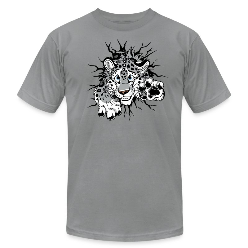 STUCK Snow Leopard (2-sided)  - Men's T-Shirt by American Apparel