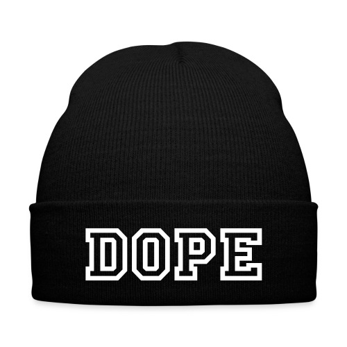 DOPE Beanie - Knit Cap with Cuff Print