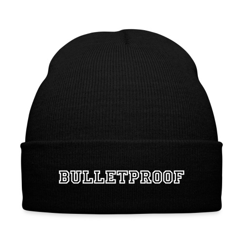Bulletproof Beanie - Knit Cap with Cuff Print