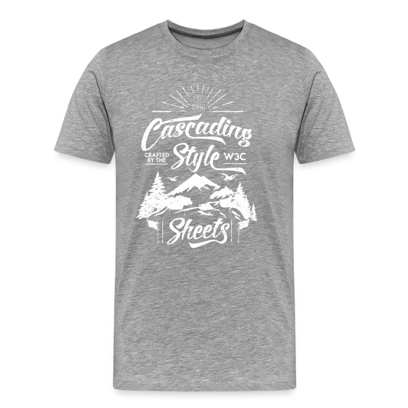 CSS-Shirt - Men (grey) - Men's Premium T-Shirt