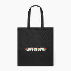 Love is Love Ribbon Bags & backpacks