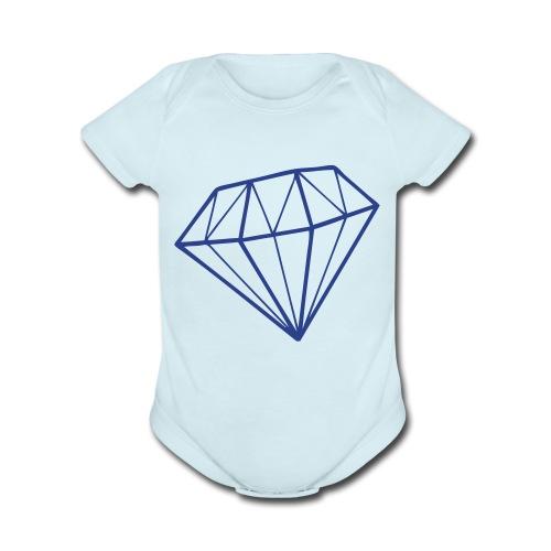 baby diamond - Organic Short Sleeve Baby Bodysuit