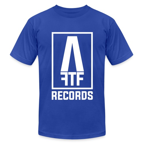 AIM FOR THE FACE RECORDS TEE - Men's Fine Jersey T-Shirt