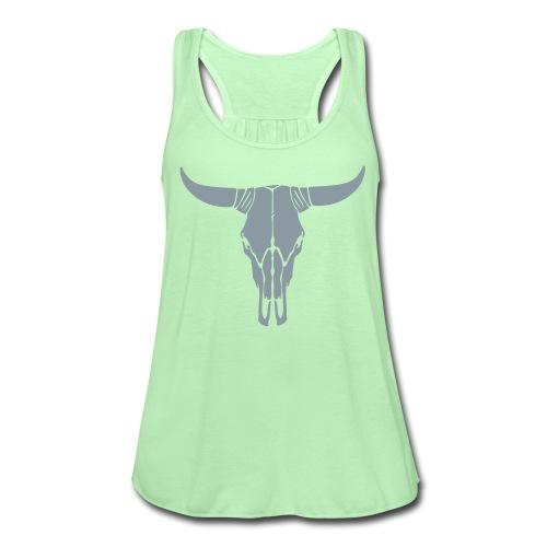 Green Skull Tank - Women's Flowy Tank Top by Bella