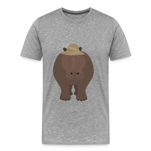 Safari Hippo Shirt - Men's Premium T-Shirt
