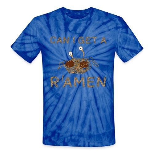 Can I get a R'Amen? Flying Spaghetti Monster  - Unisex Tie Dye T-Shirt