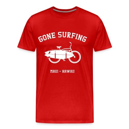 Gone Sufing White Logo - Men's Premium T-Shirt