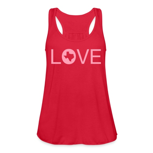 Love-Texas Tank - Women's Flowy Tank Top by Bella
