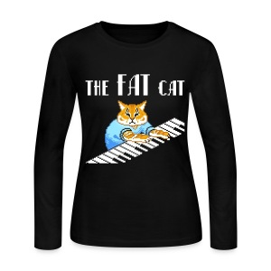 The Fat Cat - Women's Long Sleeve Jersey T-Shirt