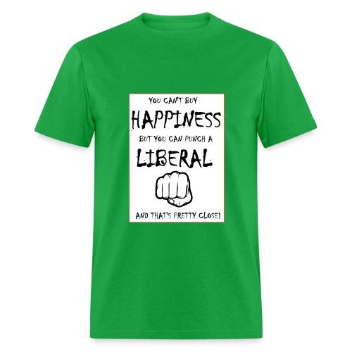 Punch a Liberal - Men's T-Shirt