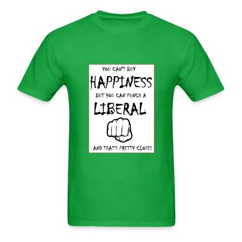 Punch a Liberal - Men's T-Shirt