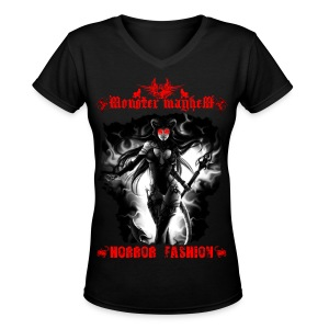 Monster Mayhem 13 - Women's V-Neck T-Shirt