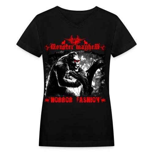 Monster Mayhem 15 - Women's V-Neck T-Shirt