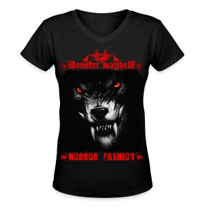 Monster Mayhem 5 - Women's V-Neck T-Shirt