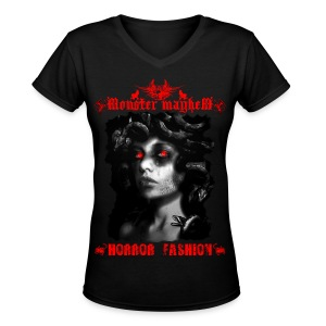 Monster Mayhem 12 - Women's V-Neck T-Shirt