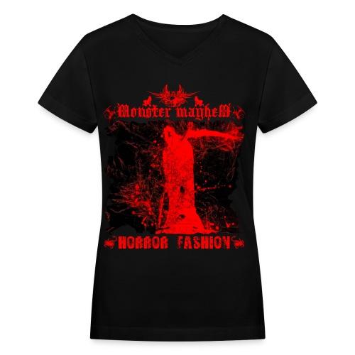 Monster Mayhem 14 - Women's V-Neck T-Shirt