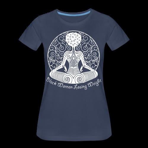 Yogi - White Text/Plus Sized Womans Shirt  - Women's Premium T-Shirt