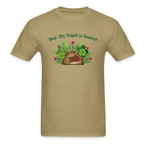 Boy, My Hugel is Bushy! Light Shirt, Dark Text - Men's T-Shirt
