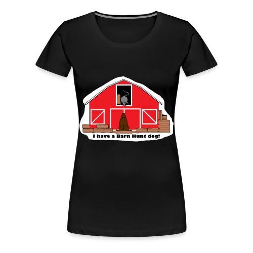Barn Hunt Dog - Women's Premium T-Shirt