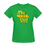Women's T-Shirts ~ Women's T-Shirt ~ The Beer State (Gold)