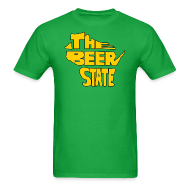 T-Shirts ~ Men's T-Shirt ~ The Beer State (Gold)