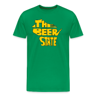 T-Shirts ~ Men's Premium T-Shirt ~ The Beer State (Gold)