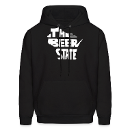 Hoodies ~ Men's Hoodie ~ The Beer State (White)