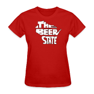 Women's T-Shirts ~ Women's T-Shirt ~ The Beer State (White)