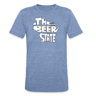 T-Shirts ~ Unisex Tri-Blend T-Shirt ~ The Beer State (White)