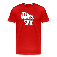 T-Shirts ~ Men's Premium T-Shirt ~ The Beer State (White)