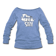 Long Sleeve Shirts ~ Women's Wideneck Sweatshirt ~ The Beer State (White)