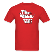 T-Shirts ~ Men's T-Shirt ~ The Beer State (White)